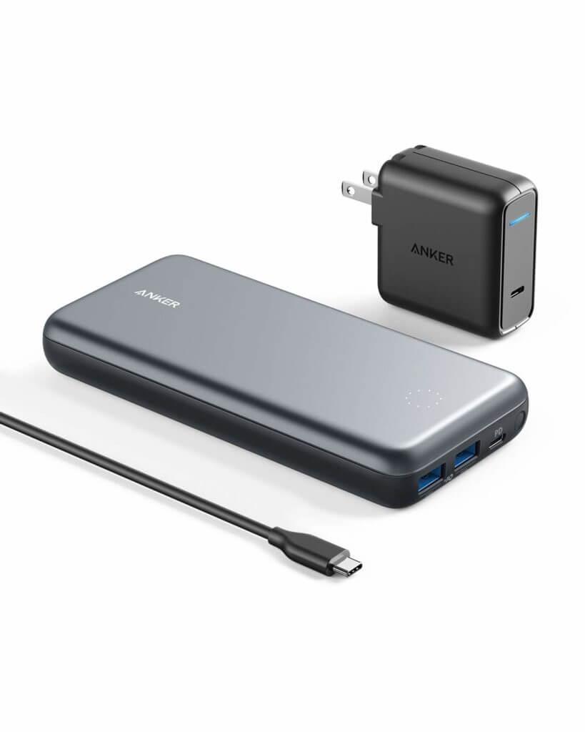 海外旅行におすすめのモバイルバッテリー③Anker PowerCore+ 19000PD