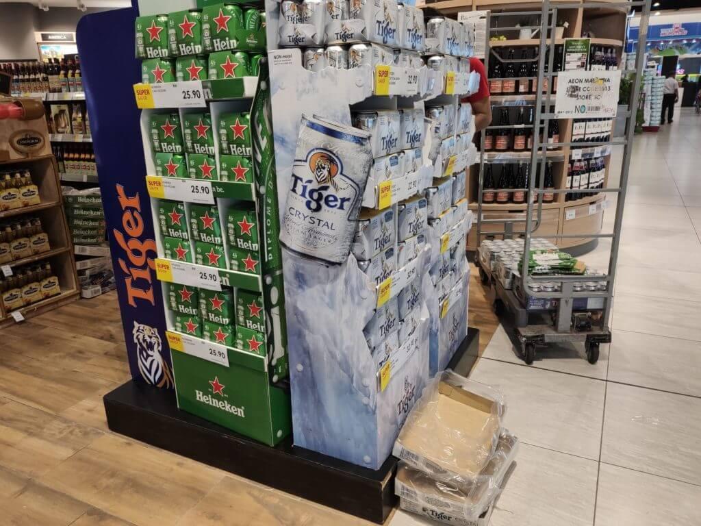 マレーシアの物価 ビールなどのアルコール飲料