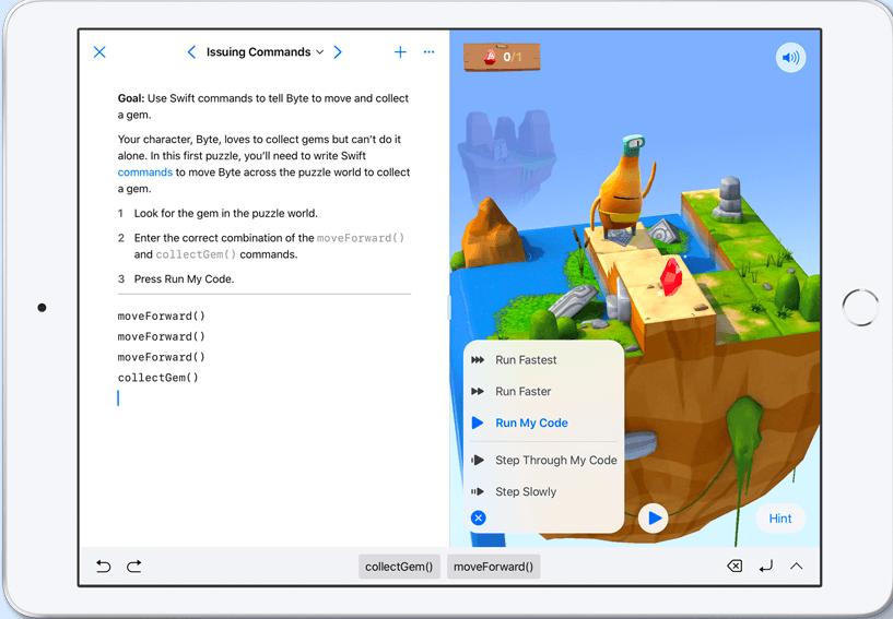 小学生向けプログラミングアプリ⑤ swift playground