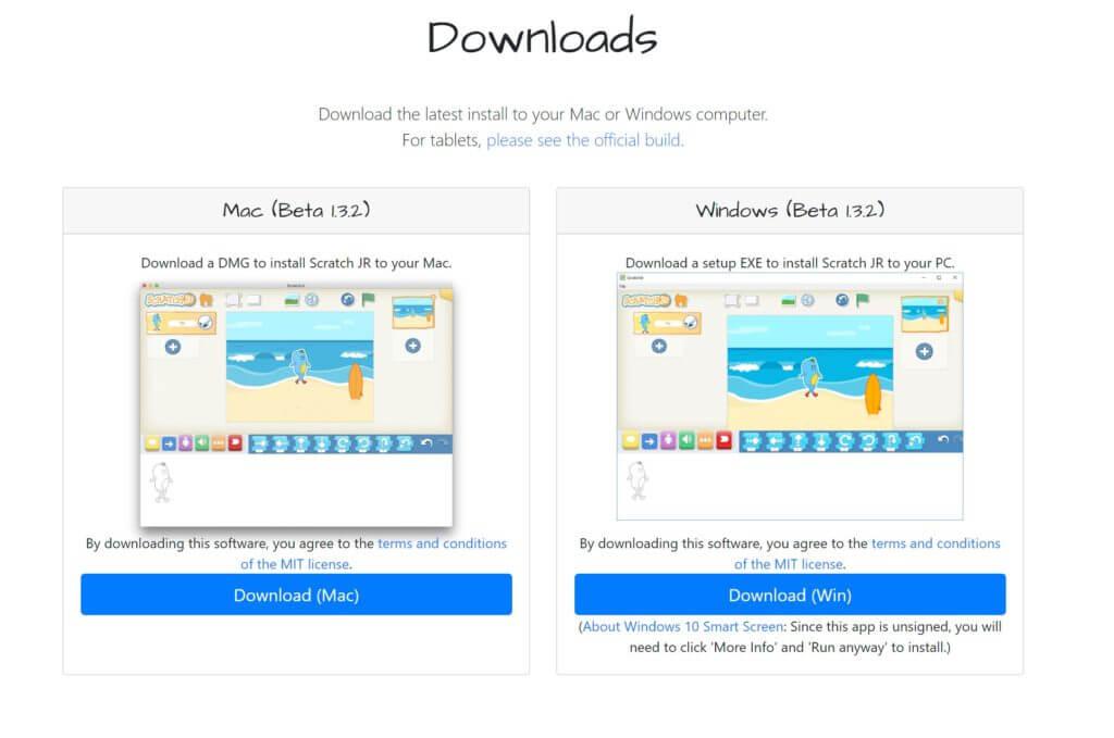 スクラッチジュニアPC版(windows,Mac)のダウンロード方法